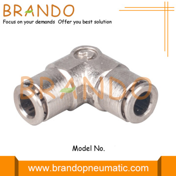 Union 90 Degree Elbow Miniature Pneumatic Fittings 3mm