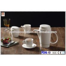2015 new design tea pot ceramic with tea strainer set