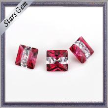 Brilliant Popular Rose Pink and White Color Gemstone para joyería