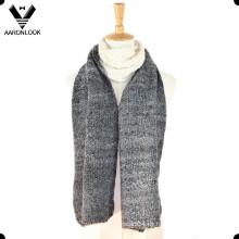 2016 la última moda Jacquard acrílico mohair Loop hilo bufanda