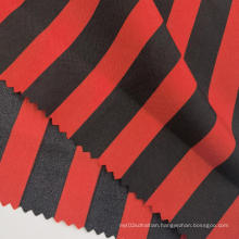 Fashion Red Black Striped Printed Polyester Pongee Fabrics