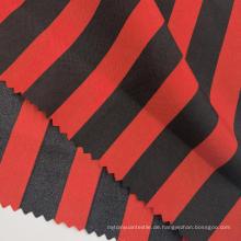 Mode Rot Schwarz Gestreifte bedruckte Polyester Pongee Stoffe