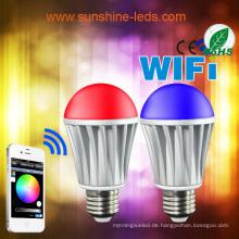 2014 Neue 7W RGBW / Warm weiße LED Birne