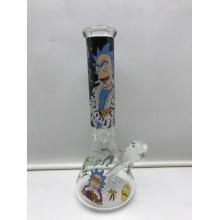 Bongs de vaso de vidrio con retrato de cabeza de dibujos animados barrocos
