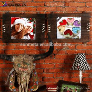 Sunmeta sublimation cadre en pierre de bois cadre suspendu SH40