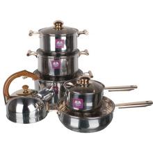 Conjunto de pote de cozinha de borboleta de aço inoxidável