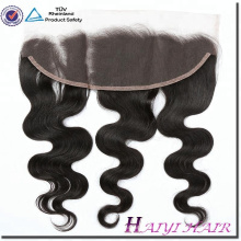 High Quality 100% Cambodian Human Hair Body Wave Bleached Knots Ear To Ear Lace Frontal 13*4 With Baby Hair