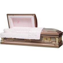 Dentelle Rose cercueil en acier inoxydable pour les é.-u.