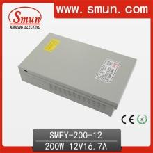 200W 12VDC 16.7A Fuente de alimentación impermeable IP40 de la conmutación con 2 años de garantía