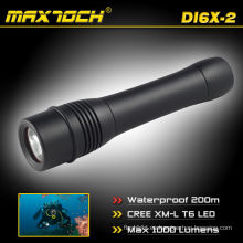 Maxtoch DI6X-2 Impermeable LED antorcha de buceo