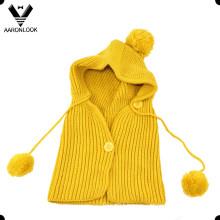 Kids Cute Winter Knitted Hood Scarf