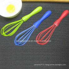 Fouet coloré fait sur commande d'oeufs de silicone