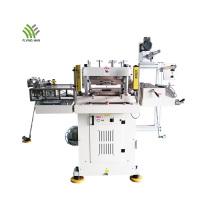 Máquina de corte e vinco para adesivos em branco adesivo