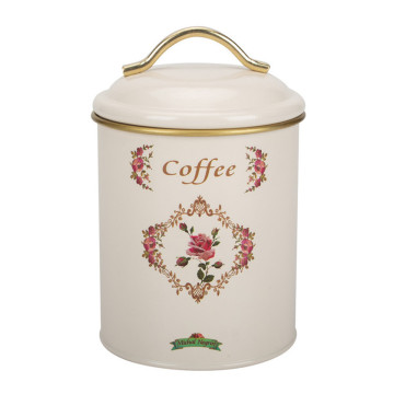 Beige Paint Design Food Jar Tapa con mango