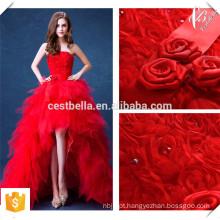 Robe De Soiree 2016 Red Lace Evening Dresses Bride Banquet Elegant Floor-length Party Prom Dress