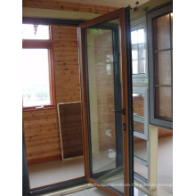 china wood-aluminum glass casement door