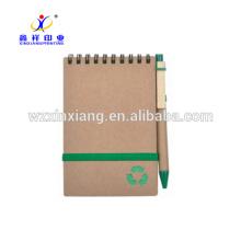 A6 kraft recyclez le cahier en spirale de papier 14.8cm * 21cm
