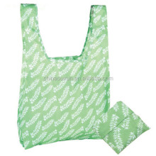 good quality foldable nylon fold up tote eco polyester bag