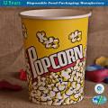 Einwegpapier Popcorn Eimer Lebensmittelbehälter Papierschale