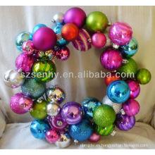 Ornamento de la bola del alambre de la Navidad de la guirnalda de la Navidad de Idear