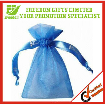 Customized Wholesale Large Organza Bag With Logo Ribbon