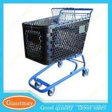150L pop red plastic shopping cart trolleys