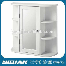 Corner Sliding Bathroom Mirror Cabinet with LED Light