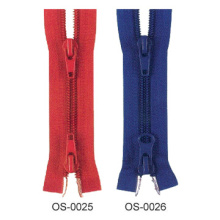 New design fashion big nylon two way zipper for jeans wholesale
