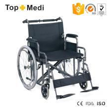 Cadeiras de rodas manuais de alumínio para serviço pesado com capacidade de 150 kg