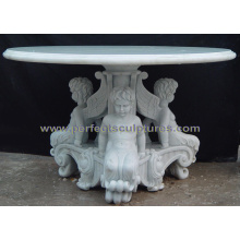 Granite Stone Marble Table for Antique Garden Furniture (QTB049)