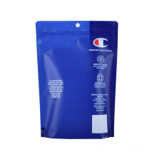 Print Stand up Plastic Underwear Packaging PE Recyclable Reclosable Zipper Ziplock Clothing Bag