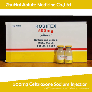 500mg Ceftriaxone Sodium Injection