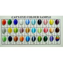 Carta de cor da pedra do olho de gato