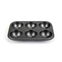 Mini-boule en acier au carbone à 6 cavités - Gris