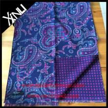 Paisley Geométrico Reversível Impresso Cachecol para Homens em Azul Rosa Personalizado Homens Cachecol