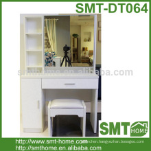 Modern High Quality Solid White dressing Table with Lighted Mirror