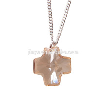 Bling Bling Simple Designs Minimal Fashion Cristal Croix Collier