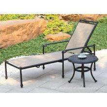 Nueva Elizabeth fundición de aluminio pila ajustable muebles de patio al aire libre Hotel Garden Chaise Lounge
