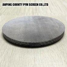Cartucho de filtro de aço inoxidável aglomerado dos discos da rede de arame da liga de níquel 304