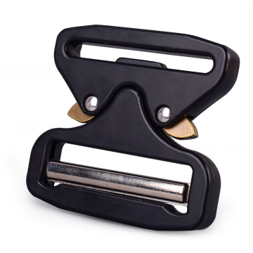 5cm Heavy Duty 300KG Metal Quick Release Cobra Belt Buckle With Black Electrophoresis