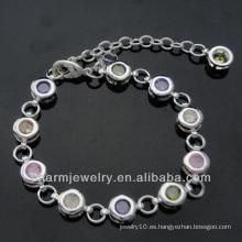 La pulsera de cadena del diamante de la joyería de la manera plateó las pulseras BSS-004