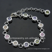Bracelet en chaîne en diamant et bijoux à la mode Bracelets plaqué argent BSS-004
