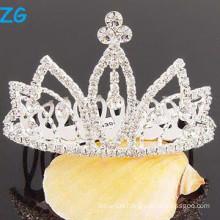 Fashion crystal wedding hair accessories hair combs, metal hair combs for princess, fancy wedding hair combs