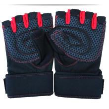 Barbell Gewichtheben Großhandel Half Finger Fitness Fingerlose Handschuhe