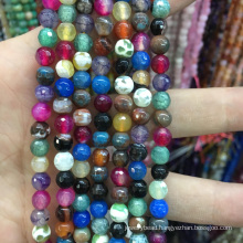Natural 6mm Faceted Mix-Color Apatite Round Loose Beads Gemstone Stone Jewelry Beads