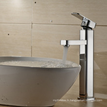 Robinet d'évier de salle de bains chromé