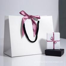 wholesale Custom Various colors Blank gift paper bag printed logo kraft paper bag With Handles