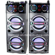 Altavoz profesional 2X10 pulgadas Big Power 2.0 con Bluetooth LED luz E246