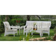 luxury furniture sofa classic outdoor rattan/wicker furniture white sofa furniture
