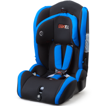 Baby car seat with blue-red cover